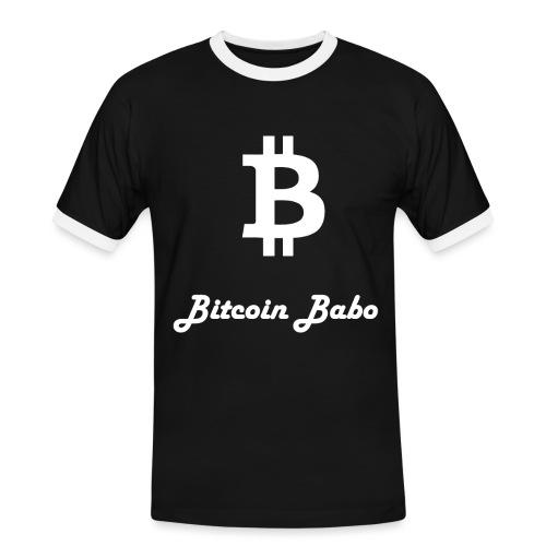 Bitcoin Babo - Männer Kontrast-T-Shirt