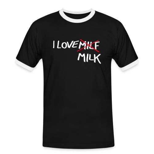 I Love MILK - Mannen contrastshirt