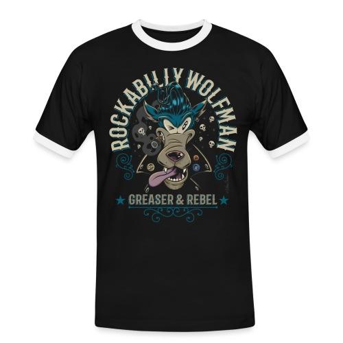 Rockabilly Wolfman - Camiseta contraste hombre