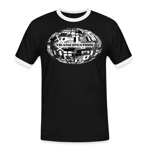 trancenation - Kontrast-T-shirt herr