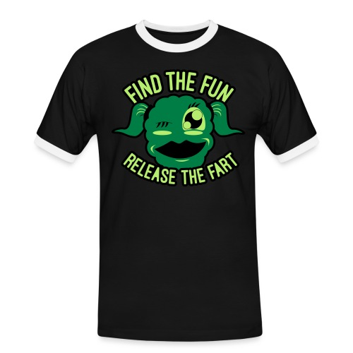 #GirlsOnly: Find The Fun - Release the Fart - Herre kontrast-T-shirt