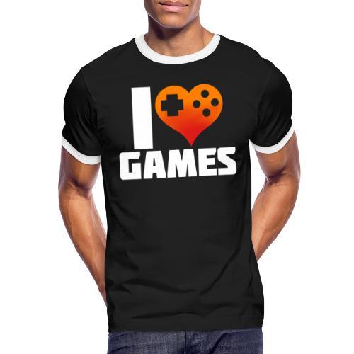 I <3 Games - Männer Kontrast-T-Shirt