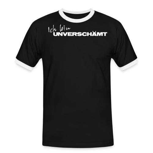 Schriftzug Ich bin - Männer Kontrast-T-Shirt