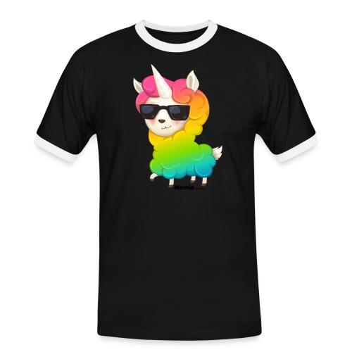 Regenboog animo - Mannen contrastshirt