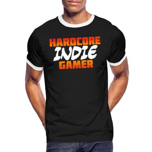 H_rdcore Indie Gamer - Männer Kontrast-T-Shirt
