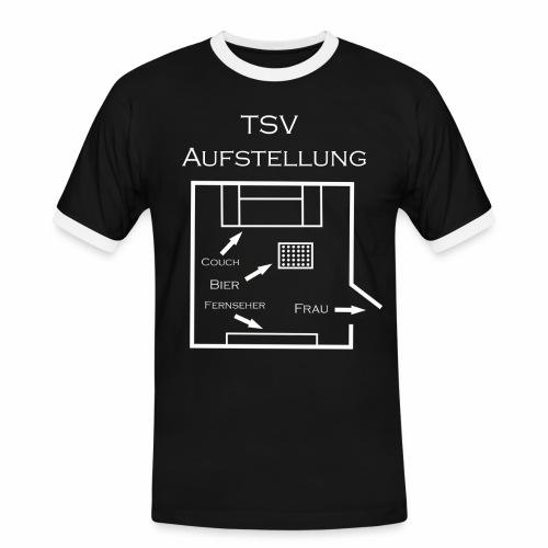 TSV Aufstellung png - Männer Kontrast-T-Shirt