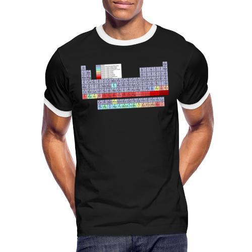 Periodensystem. - Männer Kontrast-T-Shirt