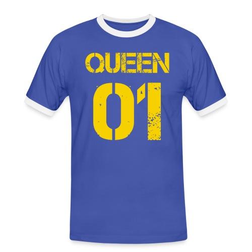 Queen - Koszulka męska z kontrastowymi wstawkami