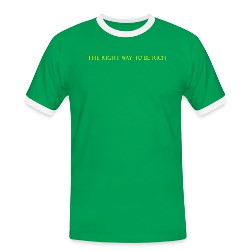The right way to be rich - T-shirt contrasté Homme
