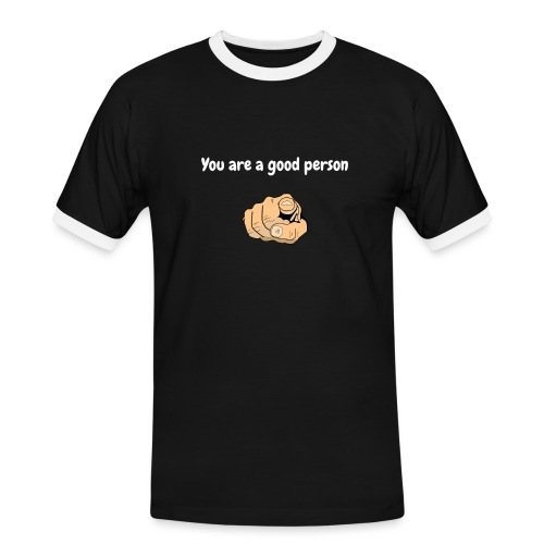 You are a good person - T-shirt contrasté Homme