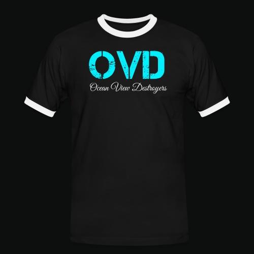 ovd blue text - Men's Ringer Shirt