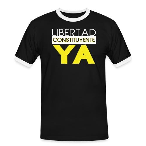 Libertad Consituyente ¡YA! - Camiseta contraste hombre
