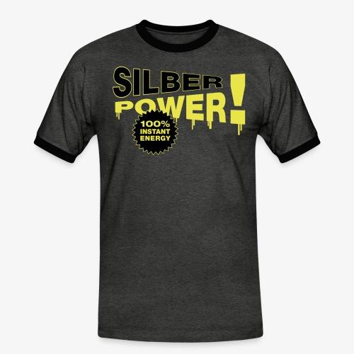 SilberPower! - Herre kontrast-T-shirt