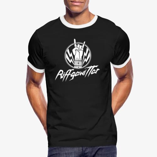 Riffgewitter - Hard Rock und Heavy Metal - Männer Kontrast-T-Shirt