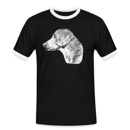 Langhaar Weimaraner - Männer Kontrast-T-Shirt