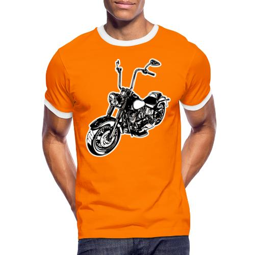 Moto Softail - Camiseta contraste hombre