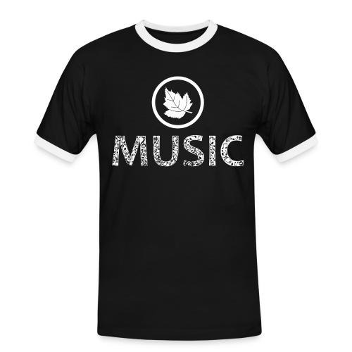 logo bashk music e bardhe - Men's Ringer Shirt