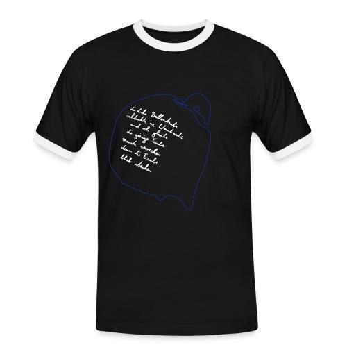 Ballontaube - Männer Kontrast-T-Shirt