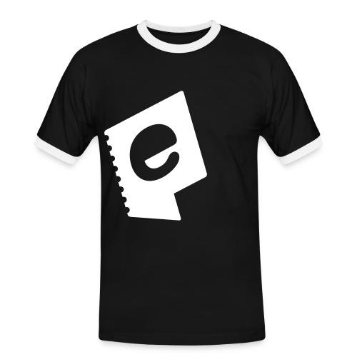 ebillett icon noshadow - Kontrast-T-skjorte for menn