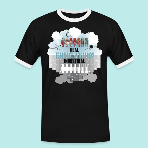 Real Education vs. Industrial Education - Camiseta contraste hombre