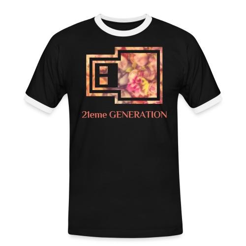 21ème GENERATION Modèle UrbanCloud - T-shirt contrasté Homme