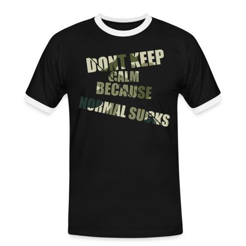 Normal sucks moro - Koszulka męska z kontrastowymi wstawkami