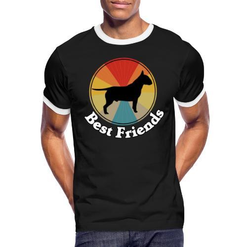 Best Friends - Ich liebe Hunde | Bull Terrier - Männer Kontrast-T-Shirt