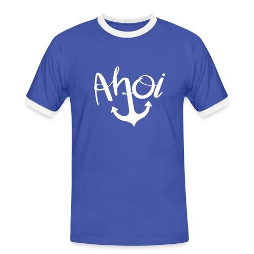 Ahoi Anker Geschenk - Männer Kontrast-T-Shirt