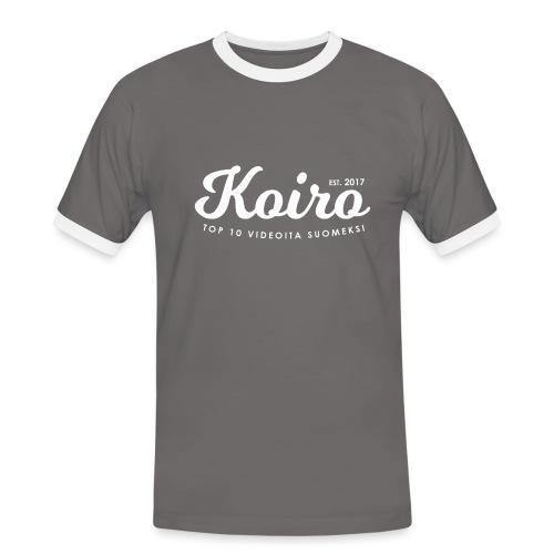 Koiro - Valkoinen Teksti - Miesten kontrastipaita