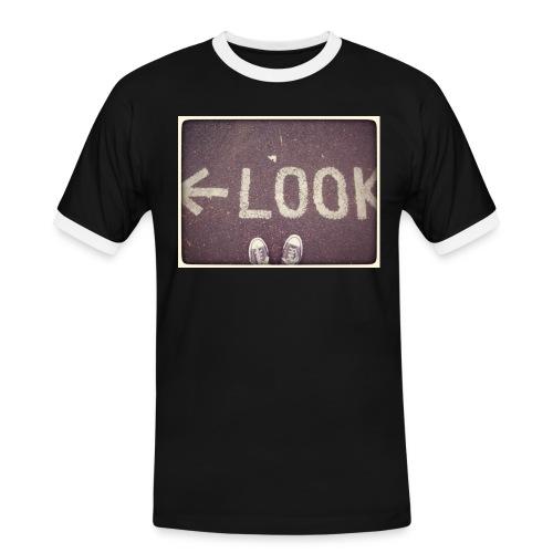 LOOK LEFT - T-shirt contrasté Homme