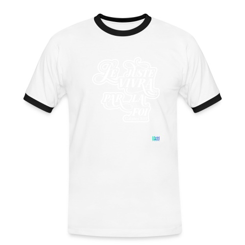 Le juste vivra par la foi - T-shirt contrasté Homme