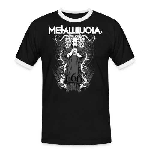 Metalliluola logo ja Demoniac 666 - Miesten kontrastipaita