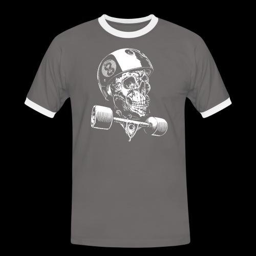 Skull Longboard Rider - negative print - T-shirt contrasté Homme