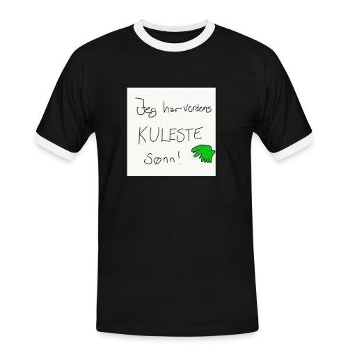 Kul sønn - Kontrast-T-skjorte for menn
