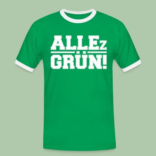 allezgruen!_weisstrans - Männer Kontrast-T-Shirt