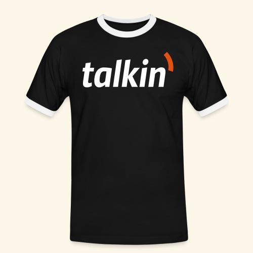 talkin' white on gray - Männer Kontrast-T-Shirt