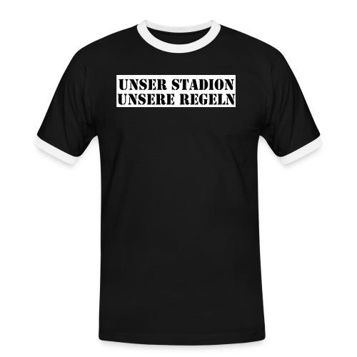 unserstadion - Männer Kontrast-T-Shirt