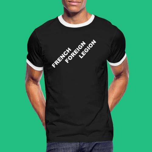 logo lettres decale blanc - T-shirt contrasté Homme