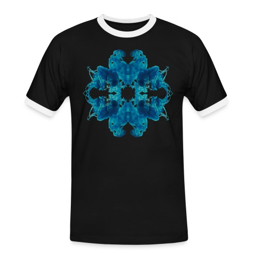 Tintenklecks unter Wasser - Männer Kontrast-T-Shirt