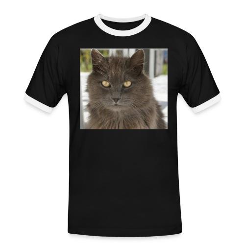 Kater Bärli - Männer Kontrast-T-Shirt