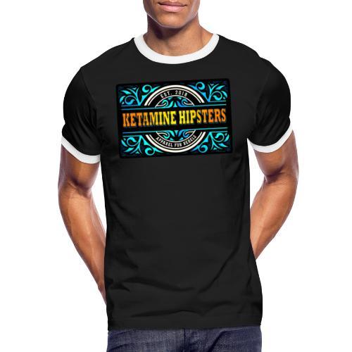Black Vintage - KETAMINE HIPSTERS Apparel - Men's Ringer Shirt