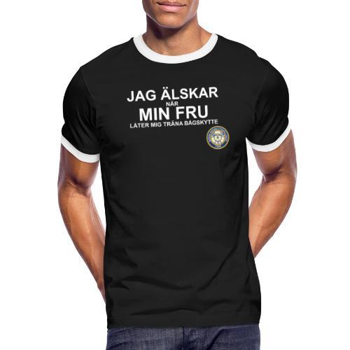 Jag Älskar Min Fru & Bågskytte - Kontrast-T-shirt herr