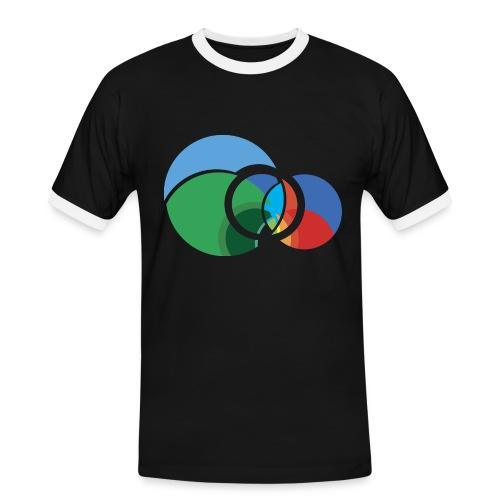 Abstact R Logo Benjamin Villadsen notext png - Herre kontrast-T-shirt
