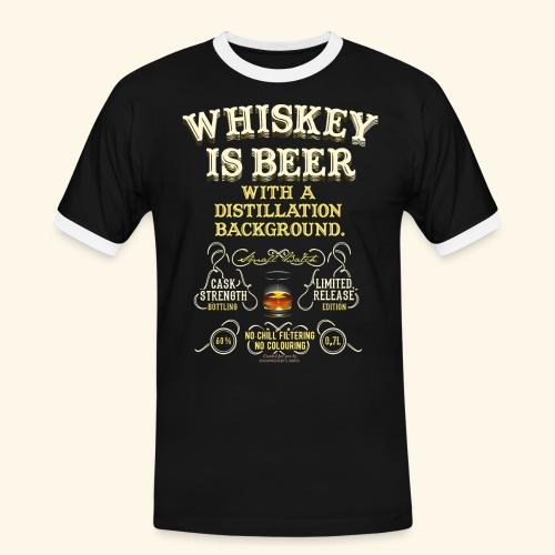 Whiskey Is Beer - Männer Kontrast-T-Shirt