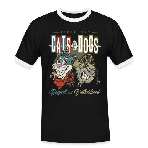 Gatos y perros - Camiseta contraste hombre