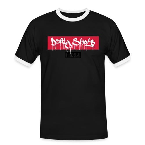 Daily Shots Tag art - Männer Kontrast-T-Shirt