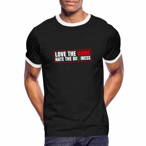 Aimez le jeu, détestez les affaires - T-shirt contrasté Homme