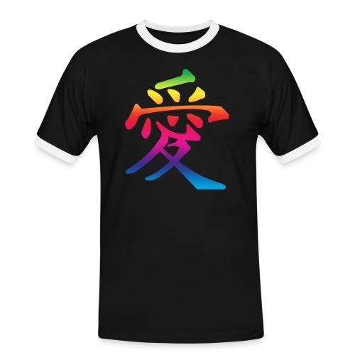 rainbow love chinese - Men's Ringer Shirt