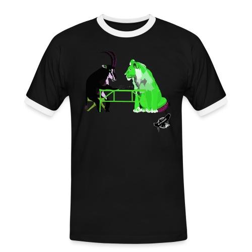Playing Senet by BlackenedMoonArts, green w. logo - Herre kontrast-T-shirt