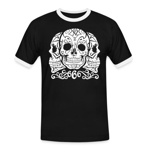 Skull Dia de los muertos - T-shirt contrasté Homme